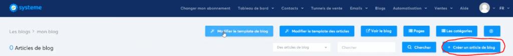 Crear una entrada en el blog