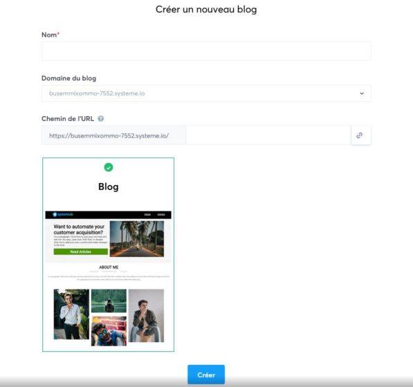 pestaña de blog